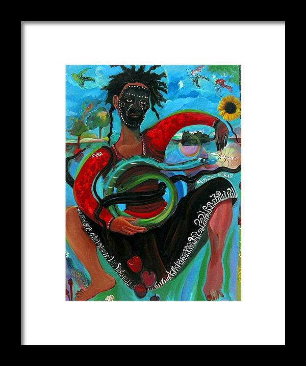 Figure Framed Print featuring the painting Eves Power Trip by Joyce Owens