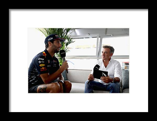 Three Quarter Length Framed Print featuring the photograph F1 Grand Prix of Italy - Previews by Mark Thompson