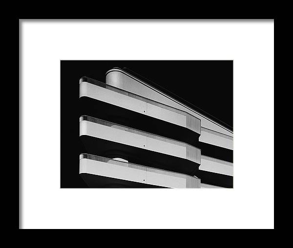 Downtown District Framed Print featuring the photograph facade study lV by Anton Schedlbauer