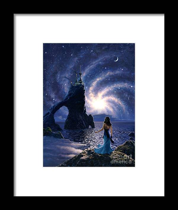 Space Framed Print featuring the painting Far Synura by Stu Shepherd
