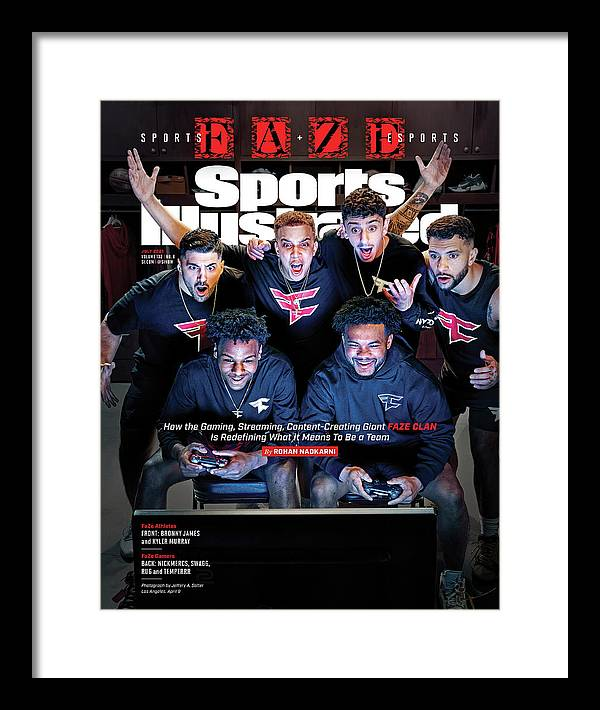 Faze Clan Framed Print featuring the photograph FaZe Clan, eSports and Gaming by Sports Illustrated