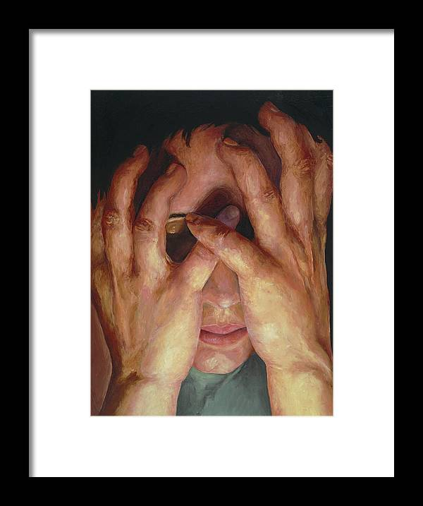 Hands Framed Print featuring the painting Feelings by Patricia Awapara