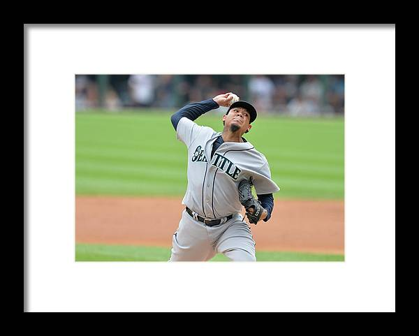 People Framed Print featuring the photograph Felix Hernandez by Brian Kersey