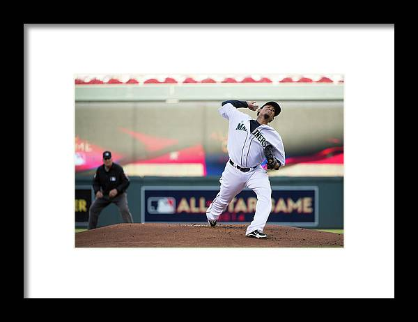 People Framed Print featuring the photograph Felix Hernandez by Ron Vesely