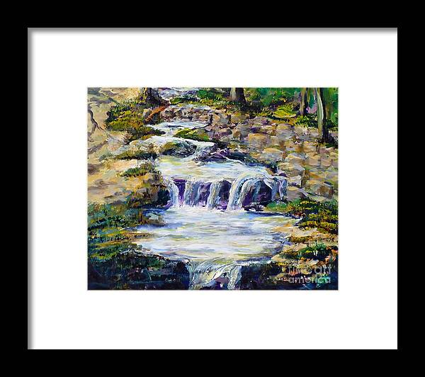 Los Angeles Framed Print featuring the painting Fern Dell Creek Noon by Randy Sprout