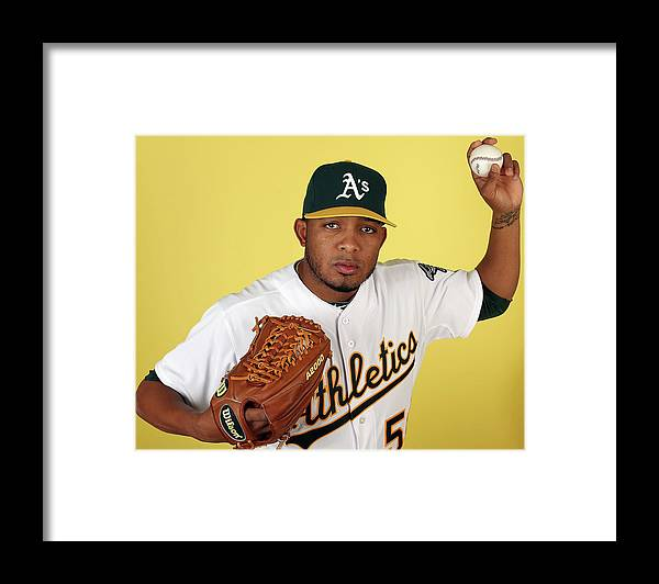 Media Day Framed Print featuring the photograph Fernando Abad by Christian Petersen