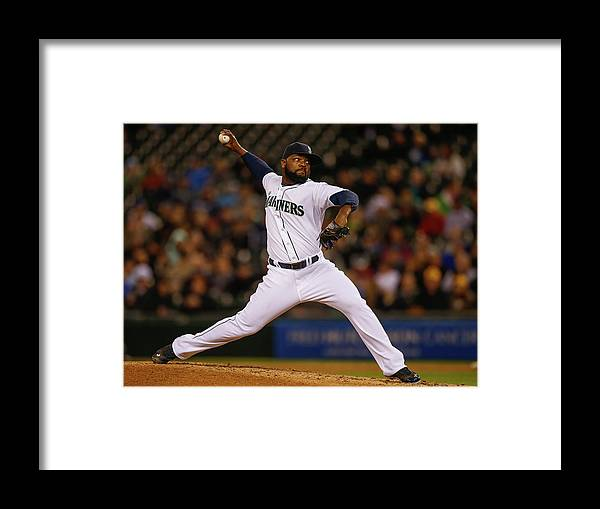 Ninth Inning Framed Print featuring the photograph Fernando Rodney by Otto Greule Jr