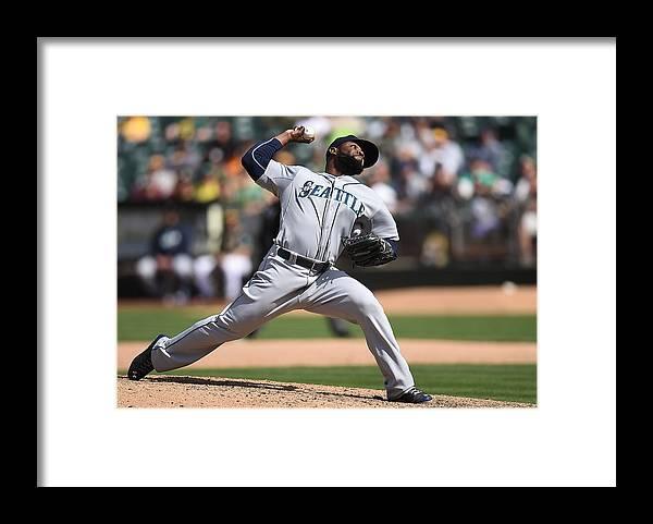 American League Baseball Framed Print featuring the photograph Fernando Rodney by Thearon W. Henderson