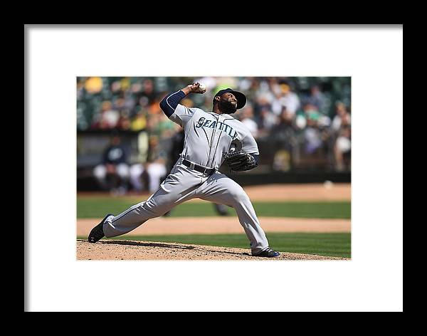 American League Baseball Framed Print featuring the photograph Fernando Rodney by Thearon W. Henderson