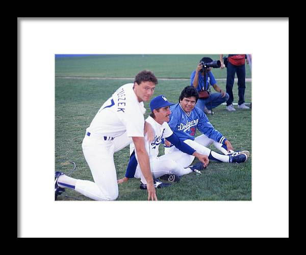 1980-1989 Framed Print featuring the photograph Fernando Valenzuela by Donaldson Collection