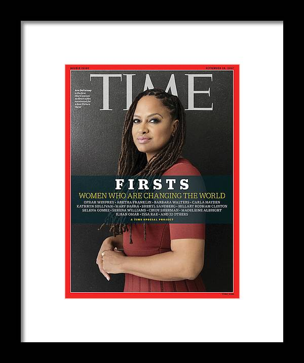 Ava Duvernay Framed Print featuring the photograph Firsts - Women Who Are Changing the World, Ava Duvernay by Photograph by Luisa Dorr for TIME
