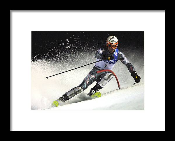Event Framed Print featuring the photograph FIS Ski WC Miller by Agence Zoom