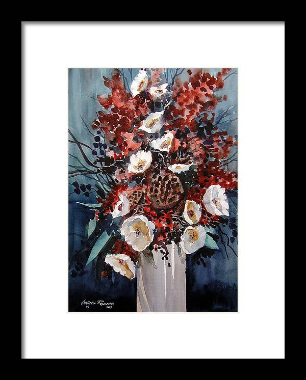 Floral Framed Print featuring the painting Floral by Charles Rowland