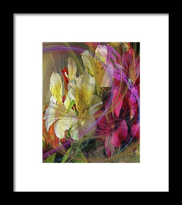 Floral Inspiration Framed Print featuring the digital art Floral Inspiration by John Robert Beck