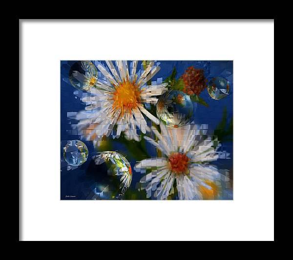 Flowers Framed Print featuring the photograph Flower World by Linda Sannuti
