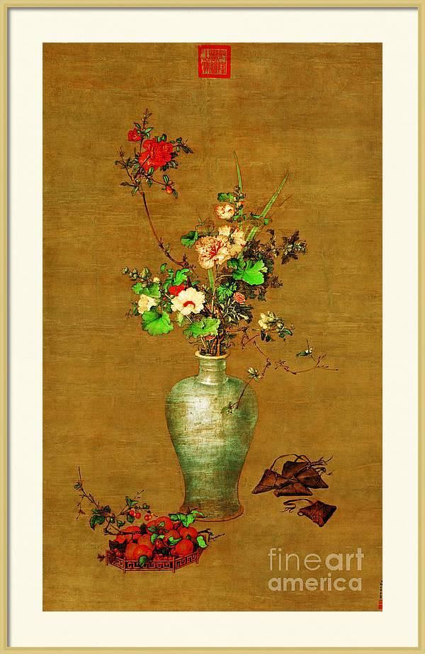 Flowers in the Vase circa 1750 by Giuseppe Castiglione