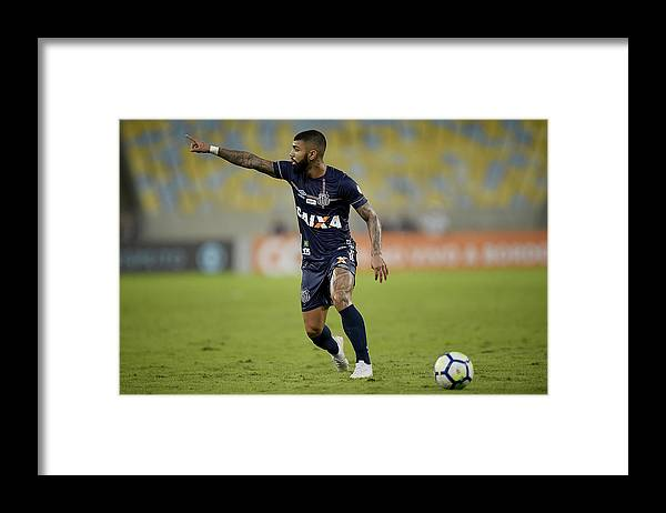 Event Framed Print featuring the photograph Fluminense v Santos - Brasileirao Series A 2018 by Alexandre Loureiro