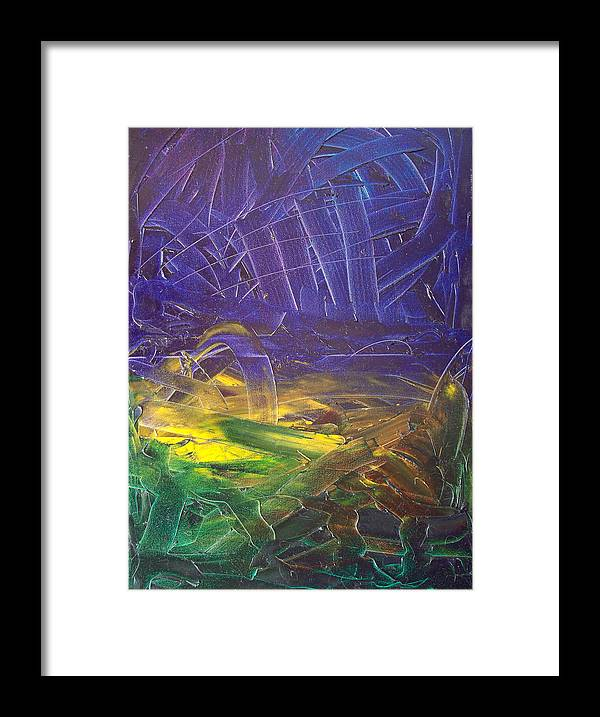 Painting Framed Print featuring the painting Forest. Part2 by Sergey Bezhinets