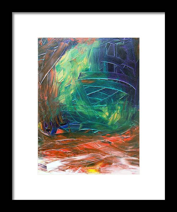 Painting Framed Print featuring the painting Forest.Part3 by Sergey Bezhinets