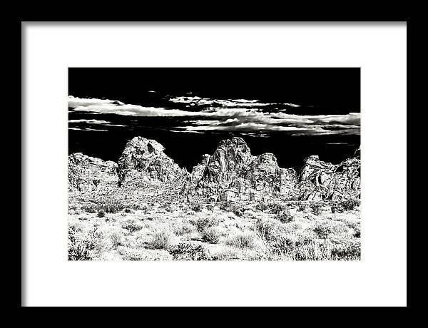 Formations At The Valley Of Fire Framed Print featuring the photograph Formations at the Valley of Fire by John Rizzuto