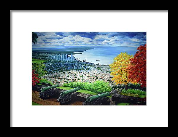 Fort Framed Print featuring the painting FORT GEORGE  Trinidad by Karin Dawn Kelshall- Best