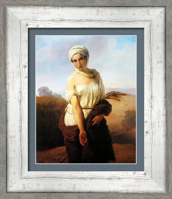 Francesco Hayez - Portrait of a woman as Ruth. by Les Classics