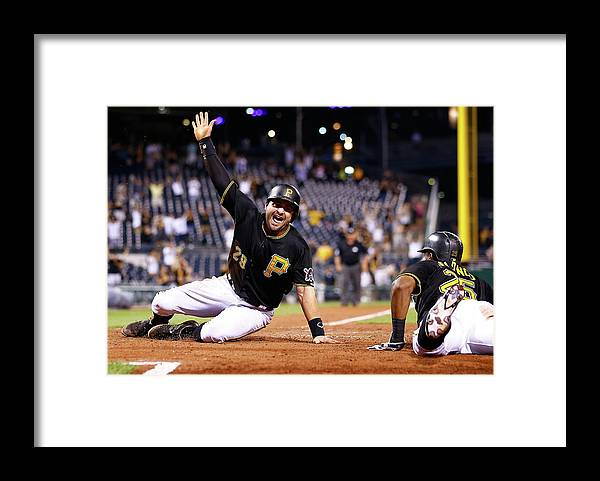 People Framed Print featuring the photograph Francisco Cervelli by Jared Wickerham