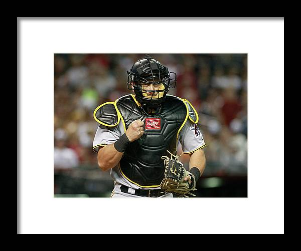 Baseball Catcher Framed Print featuring the photograph Francisco Cervelli by Ralph Freso