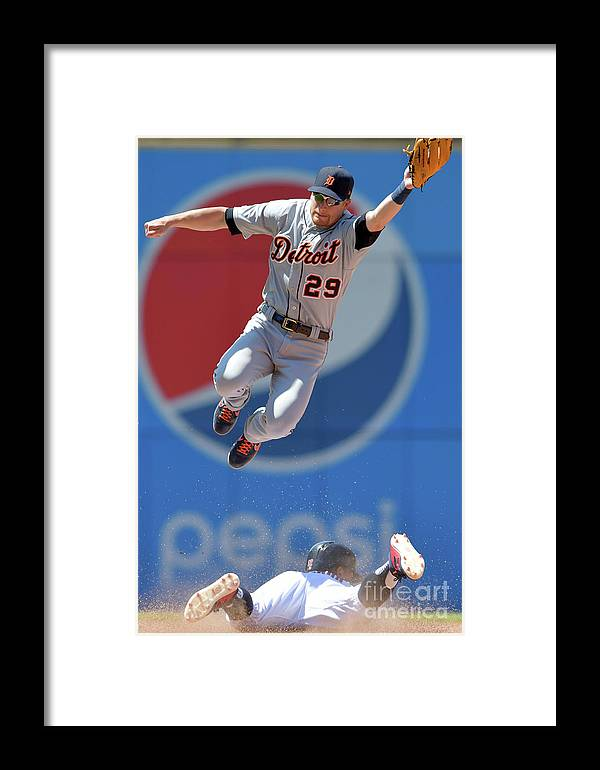 People Framed Print featuring the photograph Francisco Lindor And Gordon Beckham by Jason Miller