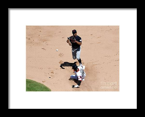 People Framed Print featuring the photograph Francisco Lindor by David Banks