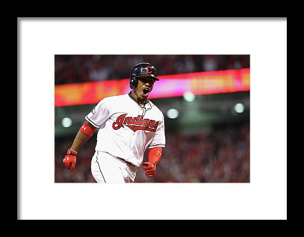 Three Quarter Length Framed Print featuring the photograph Francisco Lindor by Maddie Meyer
