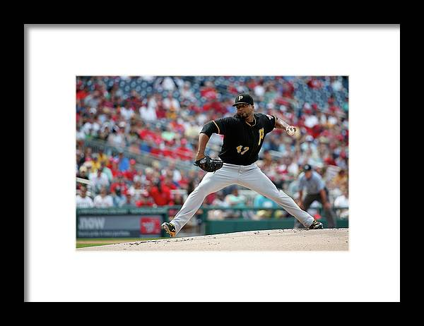 People Framed Print featuring the photograph Francisco Liriano by Rob Carr