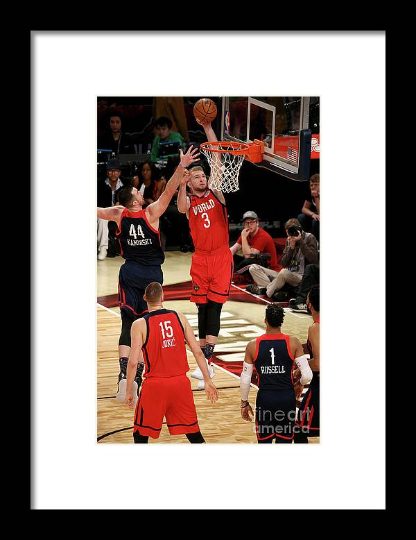 Smoothie King Center Framed Print featuring the photograph Frank Kaminsky and Domantas Sabonis by Gary Dineen