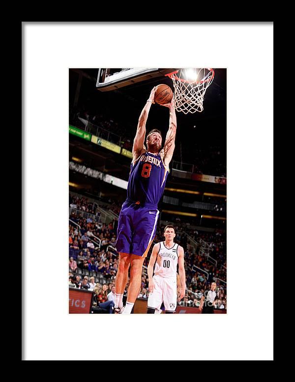 Nba Pro Basketball Framed Print featuring the photograph Frank Kaminsky by Barry Gossage