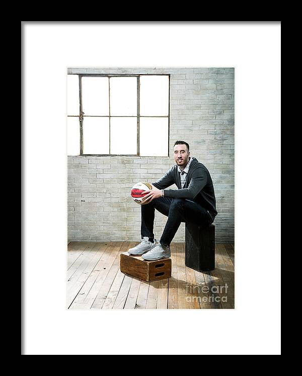 Nba Pro Basketball Framed Print featuring the photograph Frank Kaminsky by Nathaniel S. Butler