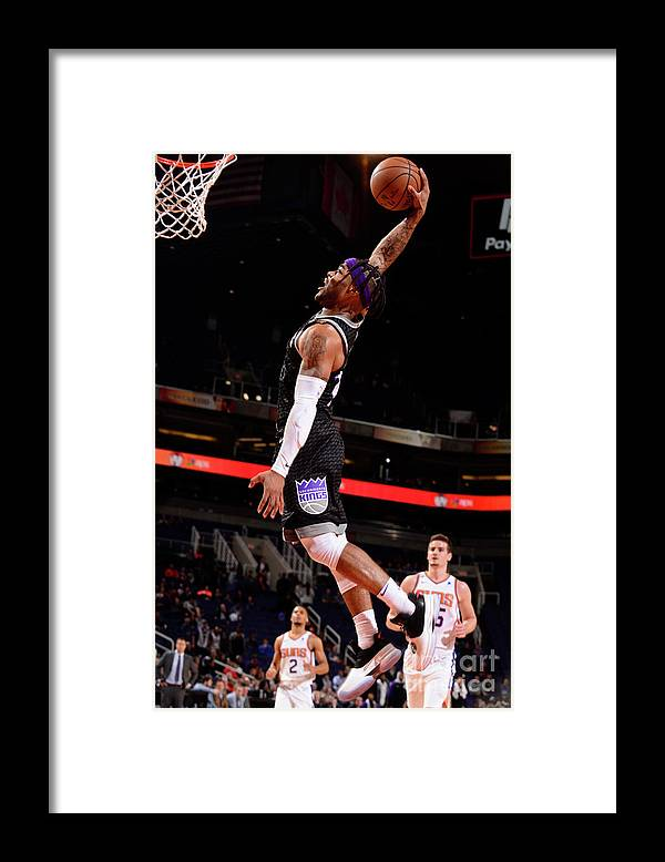 Nba Pro Basketball Framed Print featuring the photograph Frank Mason by Barry Gossage
