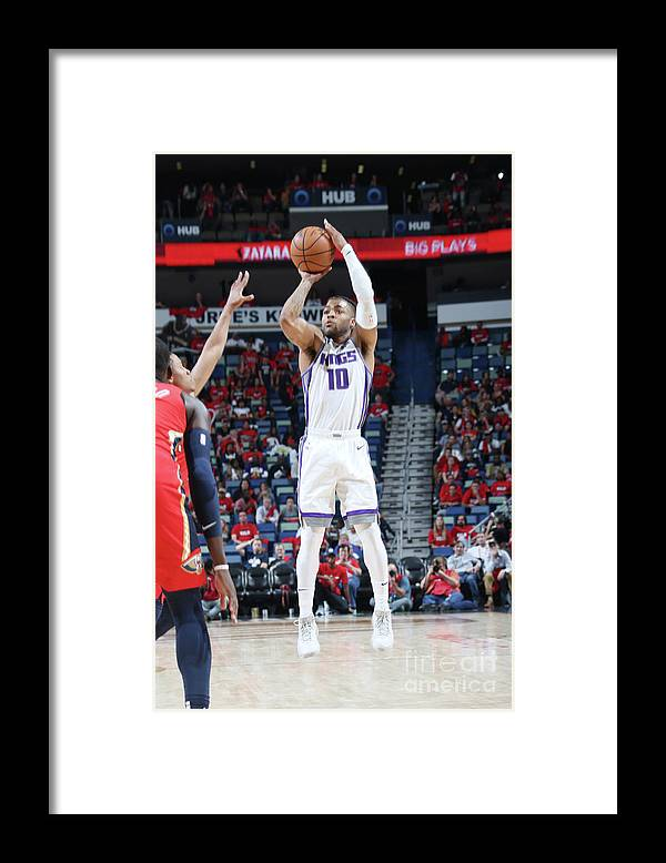 Smoothie King Center Framed Print featuring the photograph Frank Mason by Layne Murdoch Jr.