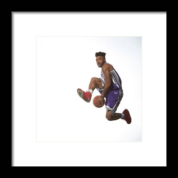 Nba Pro Basketball Framed Print featuring the photograph Frank Mason by Nathaniel S. Butler