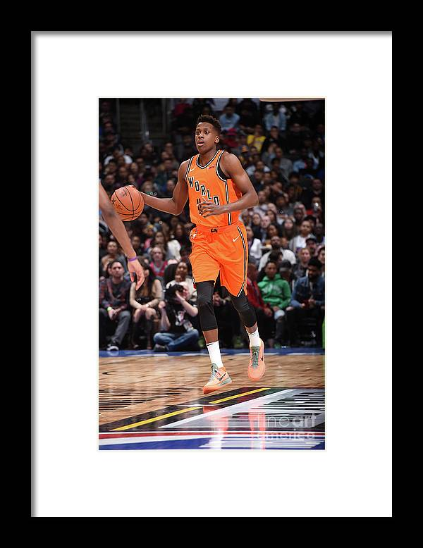 Event Framed Print featuring the photograph Frank Ntilikina by Andrew D. Bernstein
