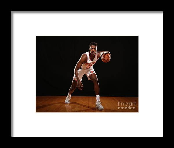 Nba Pro Basketball Framed Print featuring the photograph Frank Ntilikina by Brian Babineau