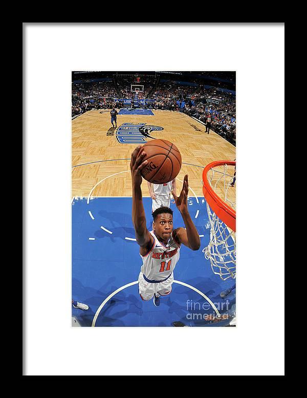 Nba Pro Basketball Framed Print featuring the photograph Frank Ntilikina by Fernando Medina