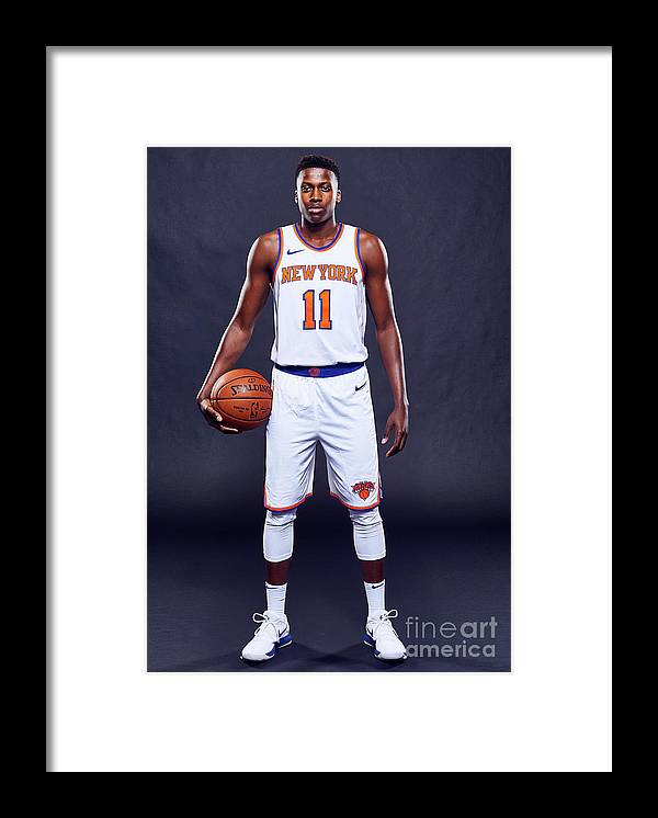 Media Day Framed Print featuring the photograph Frank Ntilikina by Jennifer Pottheiser