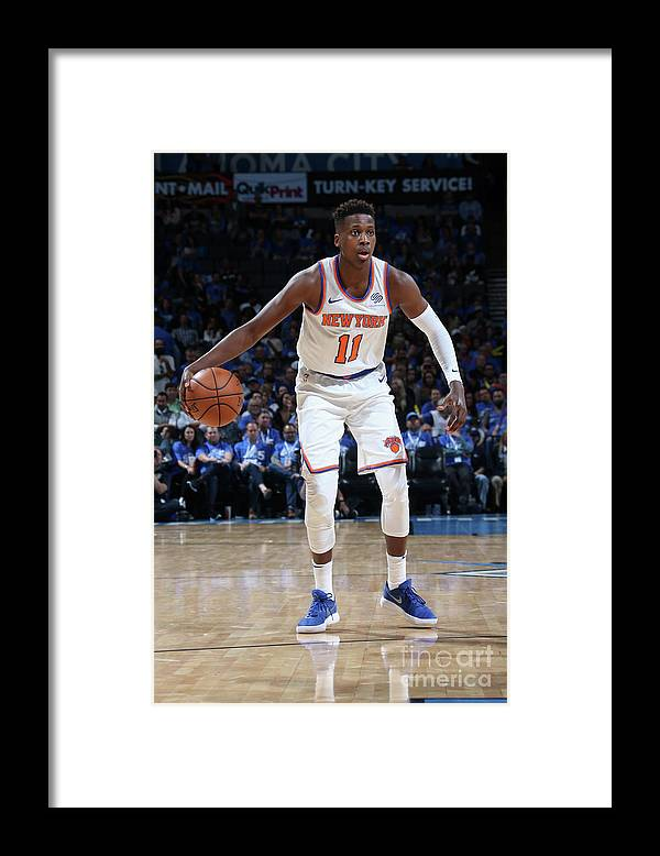 Nba Pro Basketball Framed Print featuring the photograph Frank Ntilikina by Layne Murdoch