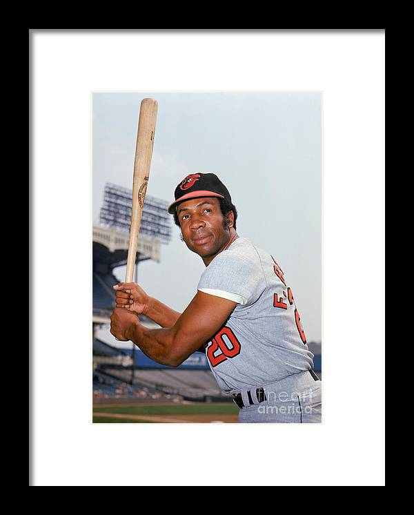 American League Baseball Framed Print featuring the photograph Frank Robinson by Louis Requena