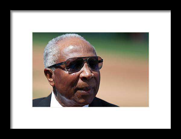 People Framed Print featuring the photograph Frank Robinson by Patrick Smith