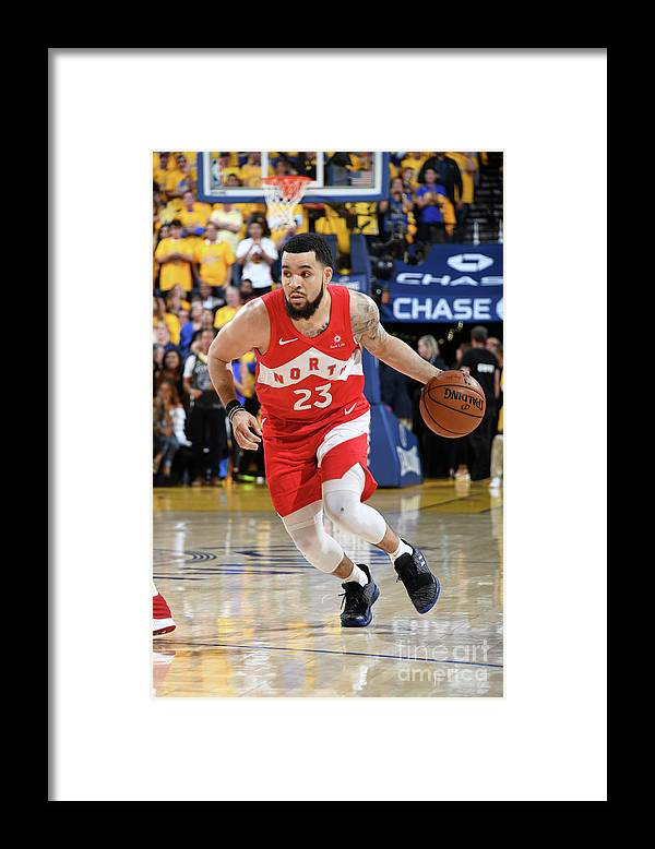 Playoffs Framed Print featuring the photograph Fred Vanvleet by Andrew D. Bernstein