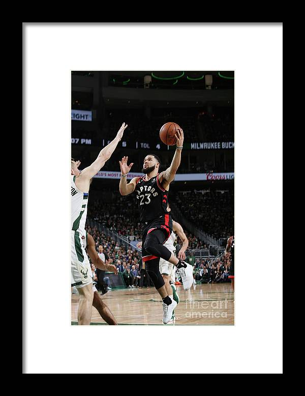 Game Two Framed Print featuring the photograph Fred Vanvleet by Gary Dineen