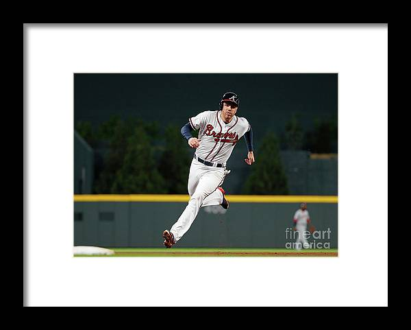 Atlanta Framed Print featuring the photograph Freddie Freeman and Nick Markakis by Kevin C. Cox