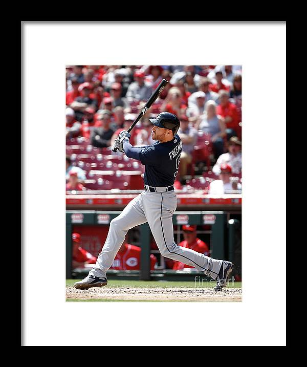 Great American Ball Park Framed Print featuring the photograph Freddie Freeman by Andy Lyons