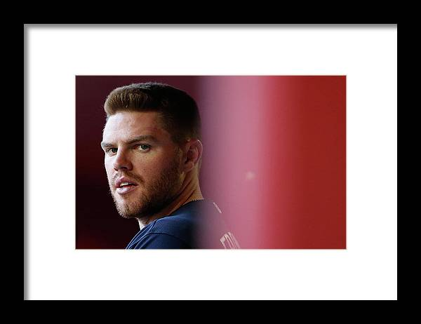 People Framed Print featuring the photograph Freddie Freeman by Christian Petersen